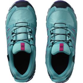 Salomon Junior XA Pro 3D CSWP Shoes Blue Curacao/Eggshell Blue/Purple Opulence